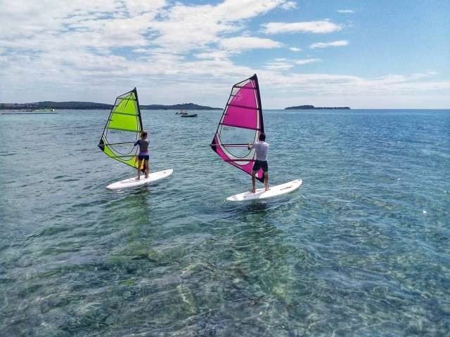beginner course windsurf fazana